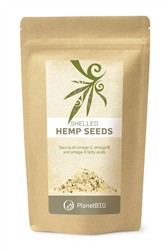 BIO semena jedilne konoplje oluščena PlanetBIO 300 g