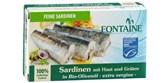 Ribe sardine s kožico v oljčnem olju Fontaine 120g