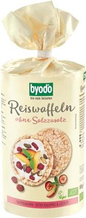 BIO riževi vaflji brez soli Byodo 100g