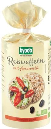 BIO riževi vaflji z amarantom in morsko soljo Byodo 100g