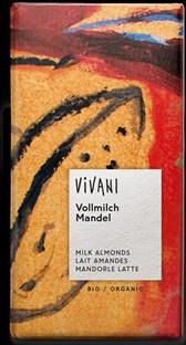 Čokolada Vivani s celimi mandlji 100 g