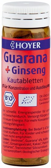 BIO pastile Hoyer z guarano in ginsengom 60 tablet