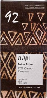 BIO temna čokolada z 92% kakava Vivani 80g