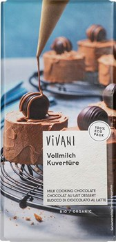 BIO mlečna čokolada kuvertura Vivani 200g