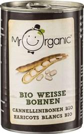 BIO beli fižol v pločevinki Mr. Organic 400g