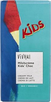 BIO čokolada polnjena z mlečno kremo Vivani 100g