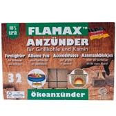 Vžigalne eko kocke za oglje za žar in kamin Flamax 32kom