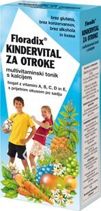 Sirup Kindervital za otroke Floradix 250 ml