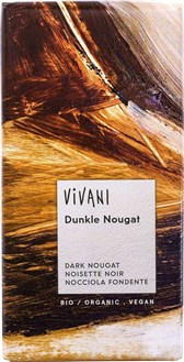 BIO nougat temna čokolada Vivani 100g