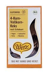 BIO keksi 4-zrna s čokolado Werz 150g