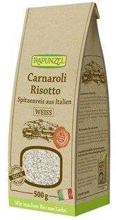BIO beli riž za rižoto Carnaroli Rapunzel 500g