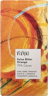 BIO temna čokolada Vivani s pomarančo 100g