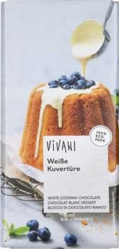 BIO čokolada bela kuvertura Vivani 200g