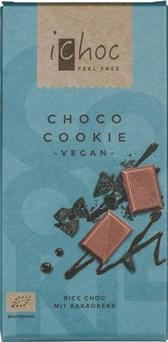 BIO riževa čokolada čokoladni piškot iChoc 80g