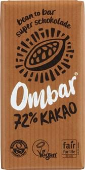 BIO čokolada temna 72% z dobrimi kulturami Ombar 35g
