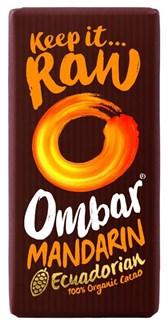 BIO presna čokolada z brusnicami in mandarino Ombar 35g