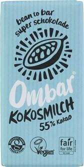 BIO čokolada 55% s kokosovim mlekom Ombar 35g