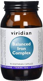 Železo uravnotežen kompleks Viridian 90 kapsul