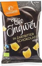 BIO ingver oblit v temno čokolado Landgarten 70g
