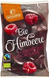 BIO maline oblite s temno čokolado Landgarten 50g