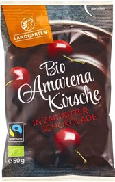 BIO češnje oblite v temno čokolado Landgarten 50g