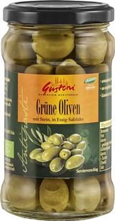 BIO zelene olive v slanici Gustoni 300g