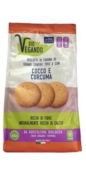 BIO pšenični piškoti s kokosom in kurkumo Biovegando 250 g