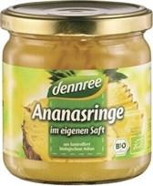 BIO ananasov kompot v lastnem soku dennree 350g