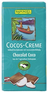 BIO mlečna čokolada s kokosovo kremo Rapunzel 100g