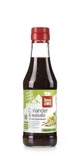 BIO sojina omaka koriander in wasabi lima 250ml