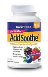 Blažilec kisline žvečljiv Acid Soothe Enzymedica 30 tablet