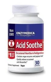 Blažilec kisline Acid Soothe Enzymedica 30 kapsul