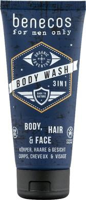 Šampon za telo za moške 3v1 Benecos 200ml