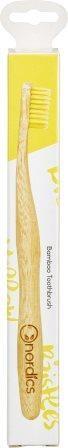 Zobna ščetka iz bambusa rumena soft-medium nordics 1kom
