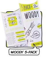 Zobna ščetka naravna Woody 5kom