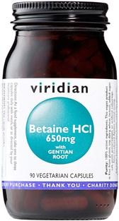 Betain HCI s korenino encijana Viridian 90 kapsul
