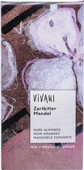 BIO temna čokolada z mandlji Vivani 100g