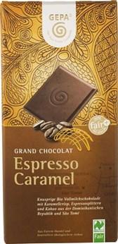 BIO čokolada Espresso karamela Gepa 100g