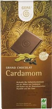 BIO mlečna čokolada s kardamomom Gepa 100g