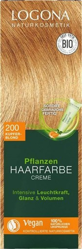 BIO barva za lase krema bakreno blond Logona 150ml
