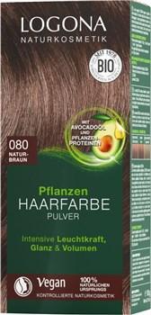 Naravna barva za lase v prahu naravno rjava Logona 100g
