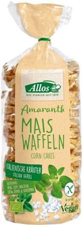 BIO vaflji iz amaranta in koruze z zelišči Allos 100g