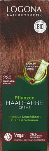 BIO barva za lase kremna kostanjeva 230 Logona 150ml
