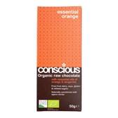 Čokolada presna pomaranča tangerina Conscious 50g