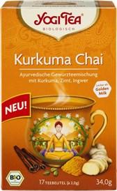 BIO čaj kurkuma in chai začimbe YogiTea 17x2g