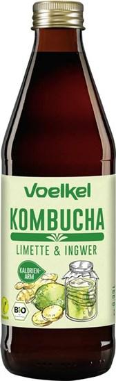 BIO napitek Kombucha z limeto in ingverjem Voelkel 0,33l