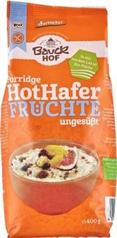 BIO ovsena kaša s sadjem HotHafer brez glutena Bauck 400g