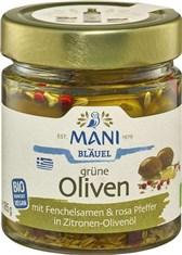 BIO zelene olive z začimbami v oljčnem olju Mani 185g