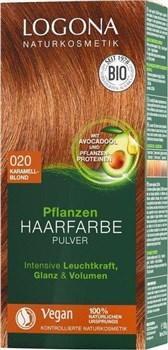 BIO barva za lase v prahu karamelno blond Logona 100g