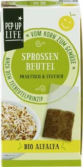 BIO semena AlfaAlfa za kaljenje v vrečki PepUpLife 4x12g